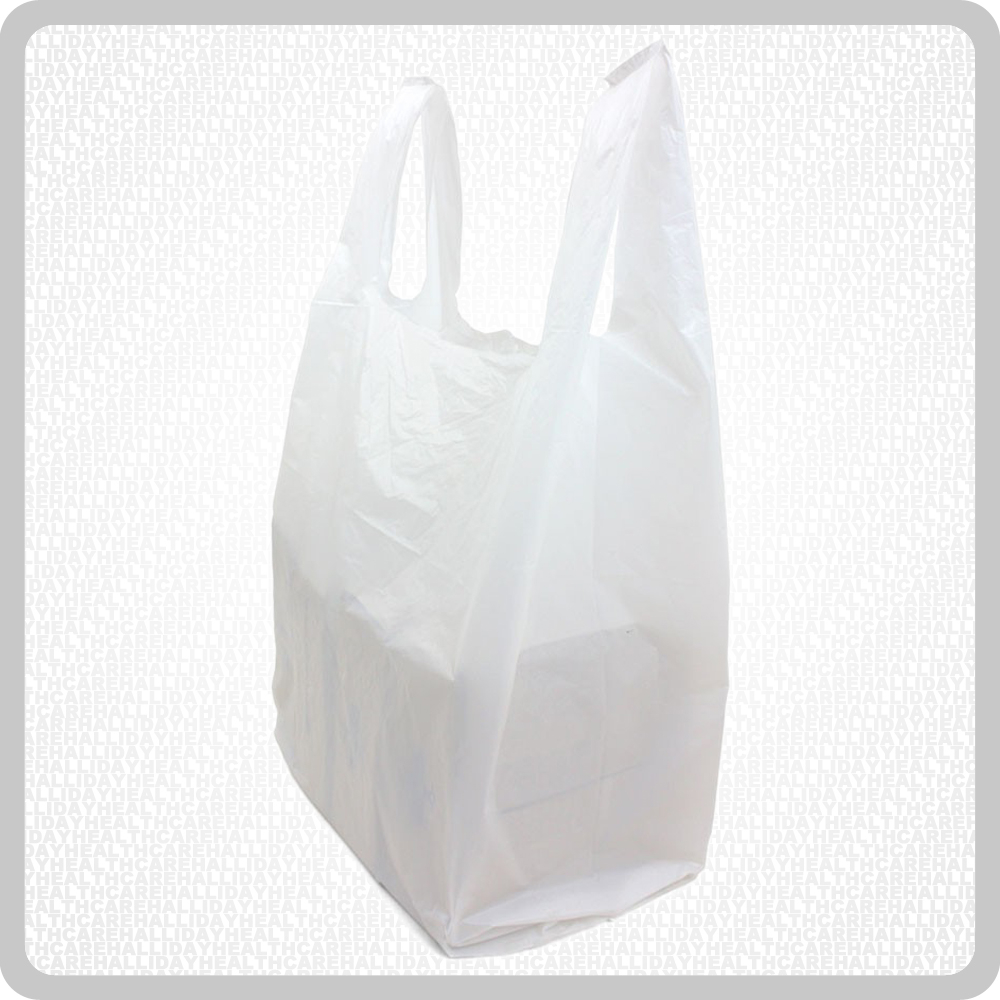 White Carrier Bag H.D. 1x2000