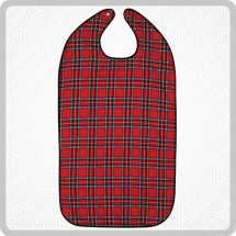 Readi Bib Red Tartan Large Without Tray