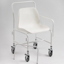 Mobile Shower Chair Height Adjustable With Detachable Arms