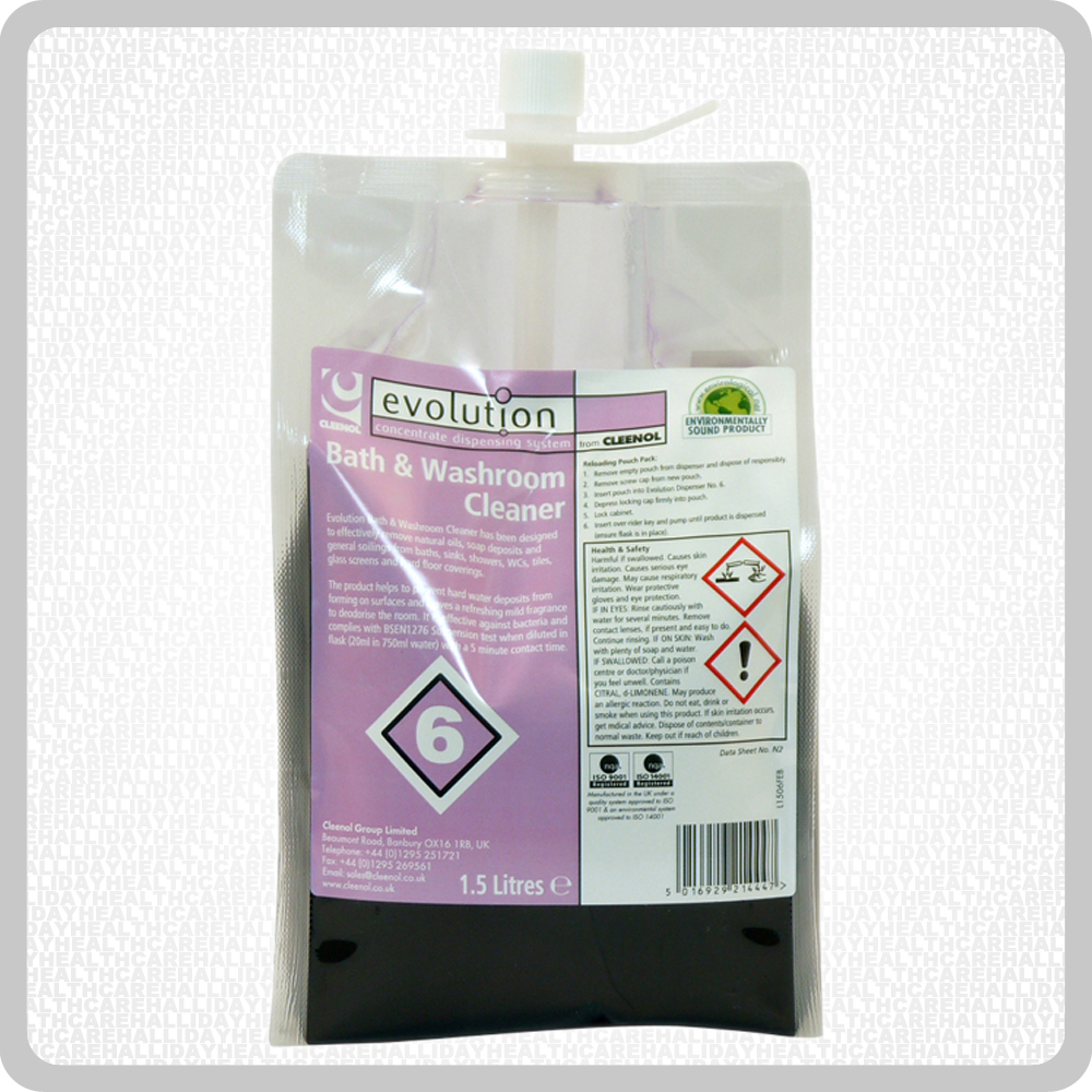 Evolution Bath & Washroom Cleaner 2x1.5L