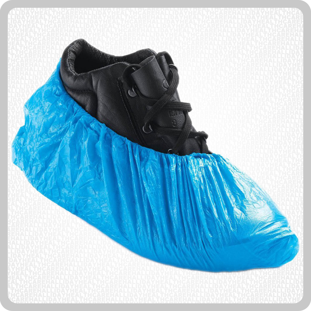 Disposable Anti-Static Blue Overshoes 14inch 1x100