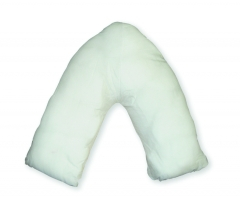 Fire Retardant MRSA Resistant Wipe Clean V Shaped Pillow