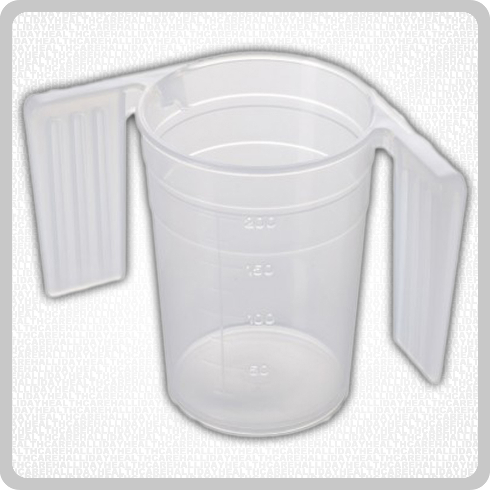 Plastic Beaker Feeder Cup With Handles - 250ml