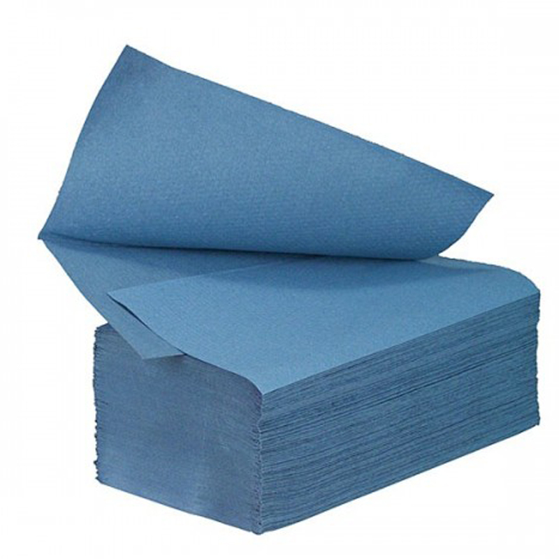 Blue Interfold Hand Towel 1ply 1x3600