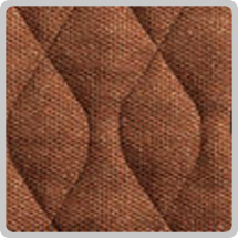 Velour Chair Pad - Brown