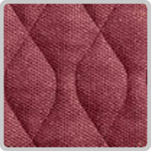 Velour Chair Pad - Burgundy