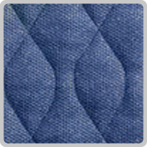 Velour Chair Pad - Blue