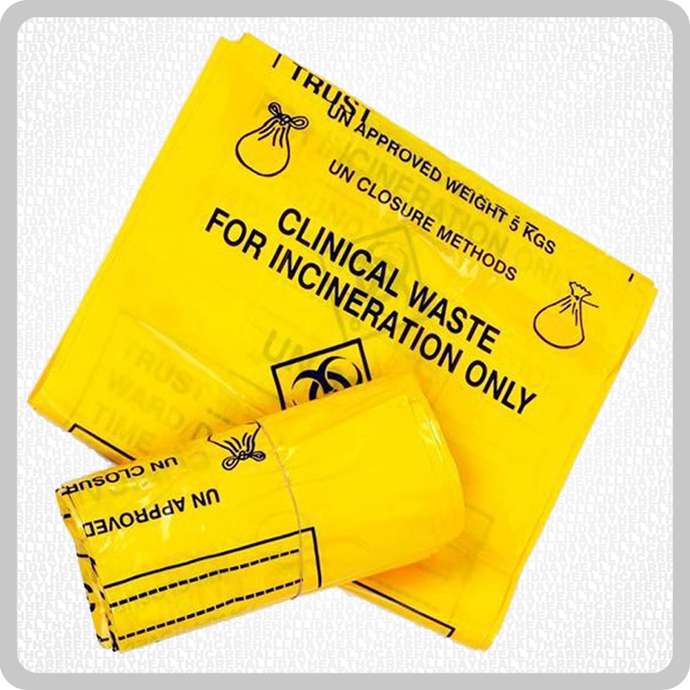 Yellow Clinical Waste Bags - 1x50