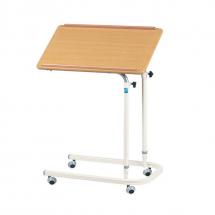 Overbed Table with Castors - Height Adjustable
