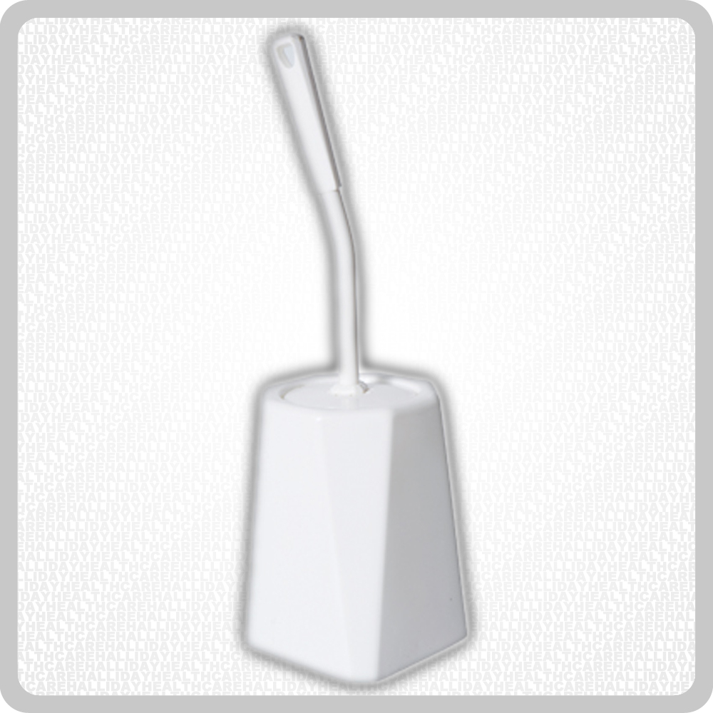 Closed Toilet Brush Set White
