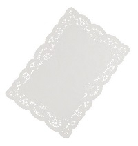 White Lace Paper Tray Covers 12x16inch 1X250