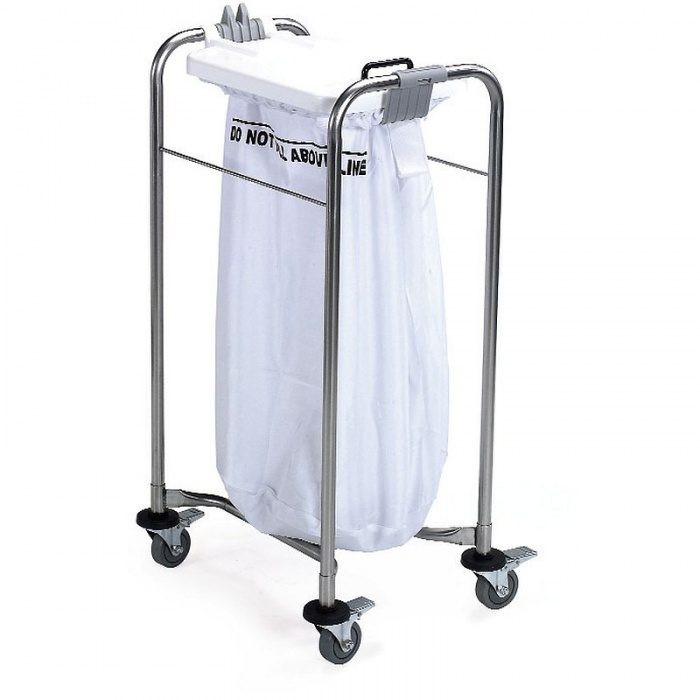 Medi-Cart 1 Bag Laundry Trolley with White Lid