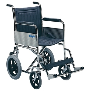 Transit Wheelchair Fixed Arms/Foot Rests